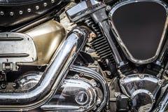 一部分的一辆美丽的摩托车 库存图片