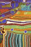 一部分的一件现代抽象原史艺术品,澳大利亚 免版税库存照片