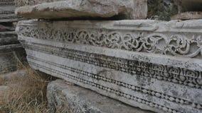 一部分的从古希腊期间的大理石带状装饰细节 股票录像