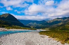 一部分的南阿尔卑斯山脉 免版税库存图片