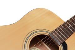 一部分的吉他在白色背景中 库存图片