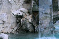 一部分的四条河的喷泉 库存照片