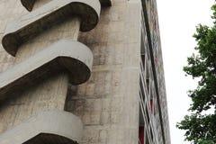 一部分的团结d'Habitation在法国市马赛 免版税图库摄影