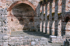 一部分的圣徒索非亚教会在内塞伯尔 免版税图库摄影