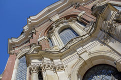 一部分的圣迈克尔的教会在汉堡 库存照片