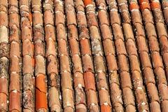 一部分的在房屋建设的屋顶的瓦片,特写镜头 库存照片