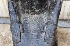 一部分的在疆土的古老雕象 免版税库存图片
