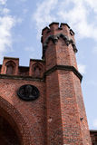 一部分的在königsberg的古老堡垒唐 库存照片