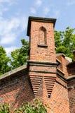 一部分的在königsberg的古老堡垒唐 库存图片