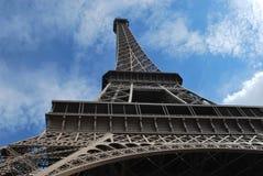 一部分的埃佛尔铁塔和冠军Elysée 免版税库存照片