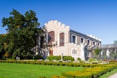 一部分的城堡和公园Hluboka nad Vltavou 库存照片