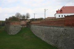 一部分的城堡设防工作在Dubno 乌克兰 免版税库存照片