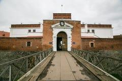 一部分的城堡设防工作在Dubno 乌克兰 图库摄影