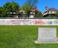一部分的墙壁在柏林,德国 免版税库存照片