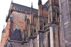 一部分的大教堂在科尔马在法国 免版税图库摄影