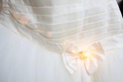 一部分的婚礼礼服 免版税库存图片