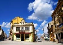 一部分的康斯坦察,罗马尼亚老镇  免版税库存照片