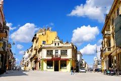 一部分的康斯坦察,罗马尼亚老镇  库存图片