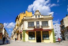 一部分的康斯坦察,罗马尼亚老镇  免版税库存图片