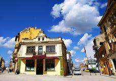 一部分的康斯坦察,罗马尼亚老镇  库存照片