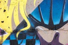 一部分的抽象街道艺术图画 当代艺术 库存图片