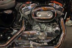 一部分的摩托车引擎 免版税图库摄影