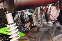 一部分的摩托车引擎 库存图片