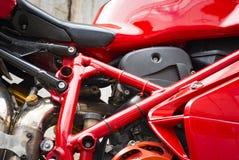 一部分的摩托车的引擎 图库摄影