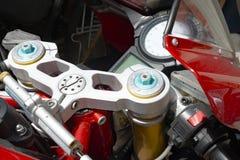 一部分的摩托车仪表板  免版税图库摄影