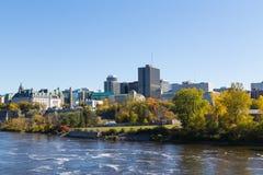 一部分的日间渥太华地平线 库存照片