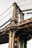 一部分的曼哈顿桥梁,纽约 库存照片