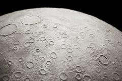 一部分的月亮纹理 免版税库存照片