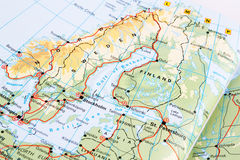一部分的欧洲地图 免版税库存照片
