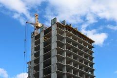 一部分的水泥居民住房建设中 免版税库存图片