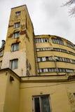 一部分的没有机械化的面包店门面  9在莫斯科,俄罗斯 免版税库存图片