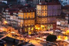 一部分的波尔图老镇在葡萄牙 免版税库存图片