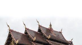 一部分的泰国寺庙屋顶 免版税库存照片