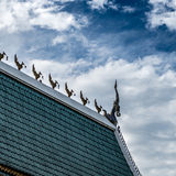 一部分的泰国寺庙屋顶 库存照片