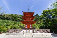 一部分的清水寺寺庙在京都,日本 免版税图库摄影