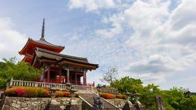 一部分的清水寺寺庙在京都,日本 图库摄影