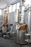 一部分的生产白兰地酒技术  库存照片