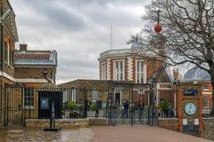 一部分的皇家观测所的大厦在格林威治,英国 库存照片
