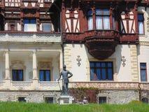一部分的皇家Peles城堡在罗马尼亚 库存照片