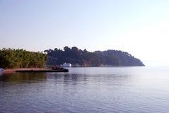 一部分的科孚岛,希腊海岛的秀丽  库存图片