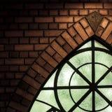 一部分的窗口教会 免版税图库摄影