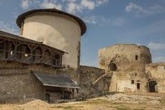 一部分的老城堡在Kamianets Podilskyi,乌克兰,欧洲。 免版税库存图片