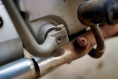 一部分的老摩托车 免版税库存照片