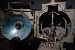一部分的老放映机 图库摄影