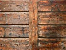 一部分的老木门在Porec,克罗地亚 库存图片