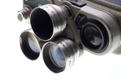 一部分的老肮脏的电影摄影机 免版税库存图片